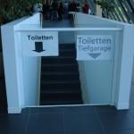 Barrierefreie Toiletten - Es gab aber einen Fahrstuhl ;)