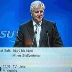 Horst Seehofer und Untertitel