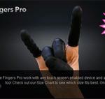 Bildschirmfoto der Latexfinger für den Touchscreen