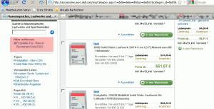 Robust Bundesland Disk bei Dell in der seitlichen Navigation!