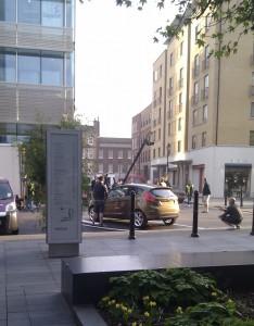 Fotoshooting vor dem Sapient UK Office