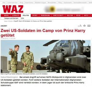 Prinz Harry tötet US Soldaten