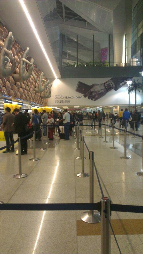 Morning Impression of Delhi Airport