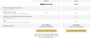 Bildschirmfoto von Amazon prime Konto, das ab 2015 95,88€ kosten soll.