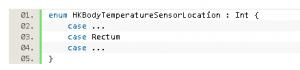 iOS HealthKit Constants Reference